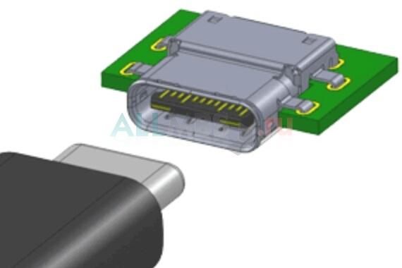 Стандартный разъем USB 3.1 Type-C (male/female)