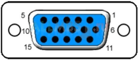 15-и контактный разъём female (со стороны видеокарты)