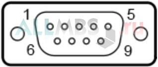 9-и контактный коннектор D-SUB male (со стороны ПК)