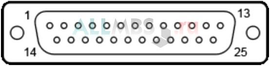 25-и контактный коннектор D-SUB male