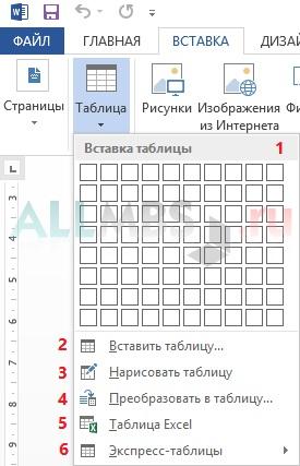 Как сделать горизонтальную таблицу в word