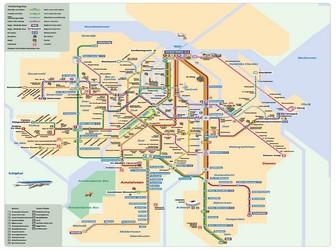 Subway Map Of Amsterdam.Metro Map Of Amsterdam