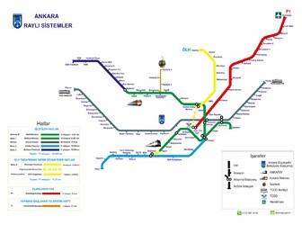 Metro map of Ankara