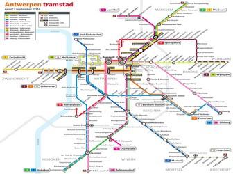 Metro map of Antwerpen