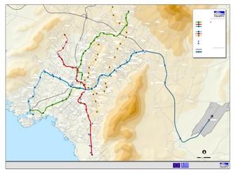 Subway Map Athens.Metro Map Of Athens