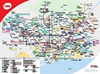 Subway Map Barcelona.Metro Map Of Barcelona