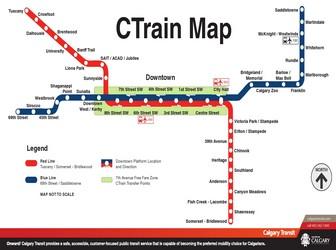Calgary Subway Map.Metro Map Of Calgary
