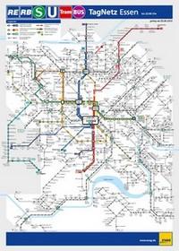 Metro map of Essen