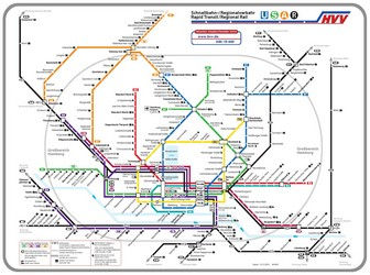 Hamburg Subway Map.Metro Map Of Hamburg