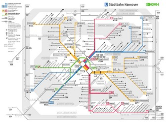 Metro map of Hannover