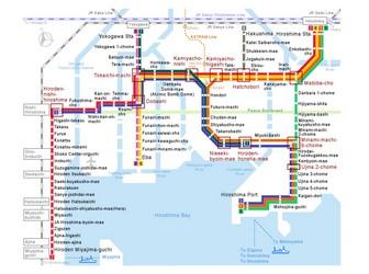 Metro map of Hiroshima