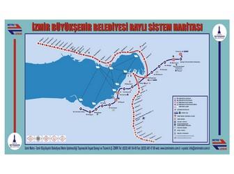 Metro map of Izmir