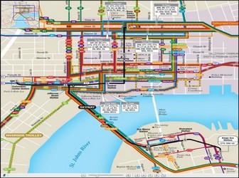 Metro map of Jacksonville
