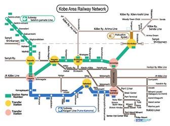 Metro map of Kobe