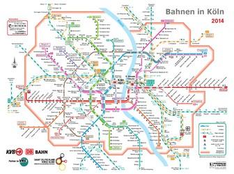 Metro map of Koln