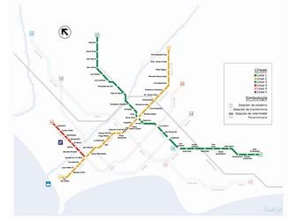 Metro map of Lima