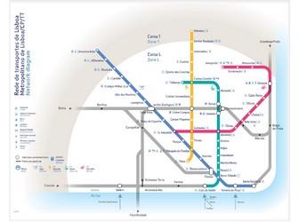 Subway Map Of Lisbon.Metro Map Of Lisbon