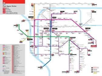 Metro map of Lyon