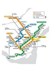 Схема метро в монреале