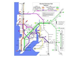 Mumbai Subway Map.Metro Map Of Mumbai