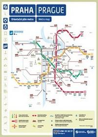 Prague subway map in english